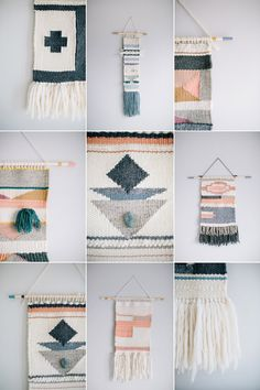 CUSTOM HANDMADE WALL WEAVINGS! If you would love a custom handmade wall weaving please contact me with a color scheme and any other instructions. I