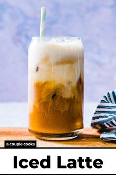 Here's how to make an iced latte at home! This classic coffee drink is perfectly creamy, refreshing and espresso-forward. | drinks | summer drinks | iced coffee recipe | coffee recipes | vegetarian recipes | gluten free recipes | #icedlatte #latte #latterecipe #icedlatterecipe Espresso Drinks, Coffee Drinks, Iced Coffee, Tea Recipes, Coffee Recipes, Drink Recipes, Alcoholic Drinks To Make At Home, Food 101, Couple Cooking