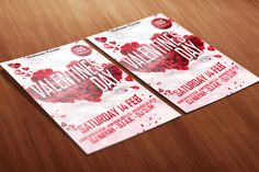 Free PSD Template Download! Valentines Day White and Red Party Flyer