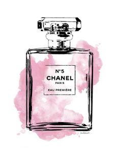 Chanel Printed watercolor 8x10 art print choice of by hellomrmoon