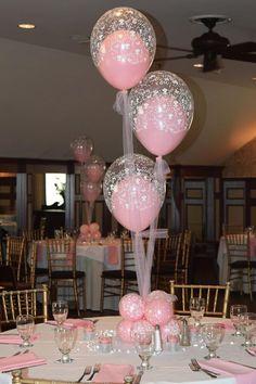 baby shower christening balloon centerpieces flowers balloon in a balloon nassau suffolk long island