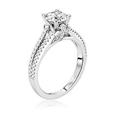 Scott Kay diamond solitaire engagement ring. Available at Spitz Jewelers. https://www.facebook.com/SpitzJewelers (Scott Kay, SCOT-1411 Faith)