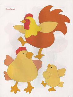 Chickens and rooster appliqué patterns