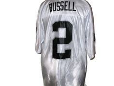 NFL Oakland Raiders Size Large White #2 Russell Jersey Football #OaklandRaiders