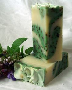Natural Handmade Soap Peppermint/Rosemary Essential by nakedbeauty, $5.25