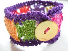 Cute, crocheted bracelets!