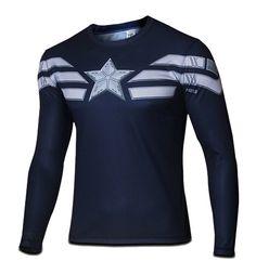 Men's Winter Soldier Captain America Long T-shirt