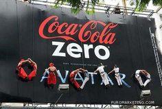 #cocacola Coca Cola Zero, Advertising, Neon Signs, Creative, Outdoor, Google, Billboard, Fencing, Creativity