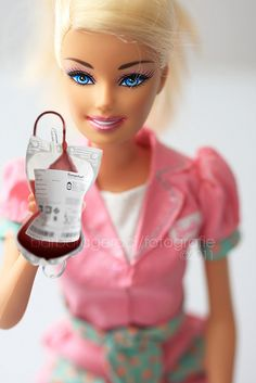 What the what? RN Barbie hanging blood?