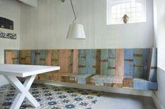 Interieur ideeën voor de inrichting van mijn woonkamer | Sijmen-interieur.nl. Houten bank voor erker. Door rvg2011