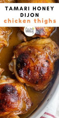 The secret to this chicken? The super flavorful marinade, all from pantry ingredients! Yummy Chicken Recipes, Yum Yum Chicken, Turkey Recipes, Giada Recipes, Dinner Recipes, Honey Dijon Chicken, Soy Chicken, Happiness Quotes, Wisdom Quotes