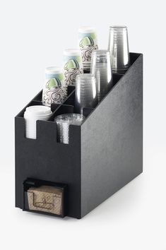 Classic Cup/Lid Organizer and Coffee Sleeve Dispenser Item: 2045. This trendy, new coffee sleeve dispenser is a great way to keep your coffee station organized and clean. Offer your customers their coffee sleeves with ease and they will not be dissapointed! http://www.calmil.com/index.php?page=shop.product_details&flypage=flypage.tpl&category_id=4&product_id=1695&option=com_virtuemart&Itemid=50