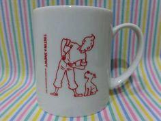 タンタンの冒険旅行 TINTIN スノーウィ 陶器 マグカップ コップ_画像1
