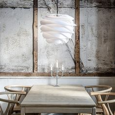 The Lamp Vita Acorn From Copenhagen Over A Dining Place