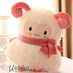 Kawaii White Sheep Hand-Warmer Plush Toy Cushion