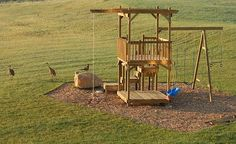 How to Build a Backyard Play Structure / Fort | How Did I Do It? good breakdown directions like the baby swing solution