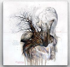 drawing art painting animal human hybrid plant mutation anatomical nunzio paci