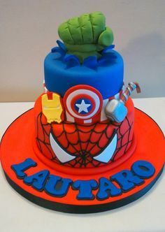 Discover recipes, home ideas, style inspiration and other ideas to try. Avengers Birthday Cakes, Superhero Birthday Cake, Boy Birthday Parties, 4th Birthday, Birthday Games, Birthday Favors, Birthday Quotes, Birthday Decorations, Birthday Wishes