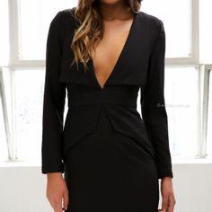 upton dress - black