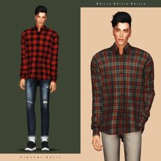 Flannel Shirt for The Sims 4