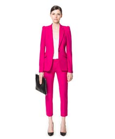 Różowy garnitur - Zara
