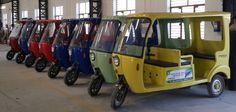 New Electric Rickshaws manufactured in India.