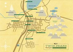 [ Twin Peaks Map ] by M. Walton Keys #Design