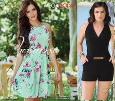 Catalogo de ropa para mujer mega moda de la firma Megasohoes pv 2016. Moda mexicana