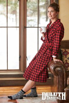 For crisp winter mornings and midnight cookie runs, nothin' beats a fuzzy flannel – unless it's a fuzzy flannel robe.