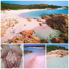 Spiaggia Rosa, Island of Budelli, Sardinia, Italy Italy Vacation, Vacation Destinations, Italy Travel, The Places Youll Go, Cool Places To Visit, Places To Travel, Italy Holidays, Visit Italy, The Beach