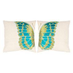 Butterfly Pillow (Set of 2)