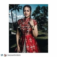 #Repost @bazaarbridein All you need to know about @aslisona  Repost @divyakdsouza  Things you didn't know about @bazaarbridein 's gorgeous cover girl #SonakshiSinha  1. She's a bril painter  2. She loves water sports  3. She taught me snapchat  @nupurmehta18 by anitadongre
