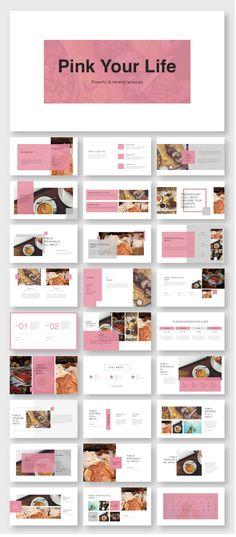 Pink Creative Presentation Template – Original and high quality PowerPoint Templates download #파워포인트 #파워포인트배경 #PPT디자인#powerpoint #template #ppt #design #web #slide Ppt Design, Booklet Design Layout, Crea Design, Pamphlet Design, Page Layout Design, Powerpoint Design Templates, Powerpoint Themes, Indesign Templates, Design Poster