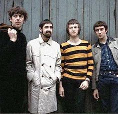 John Mayall's Blues Breakers. John McVie on the far right. Eric Clapton second from right.
