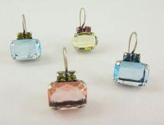 Alexandra Forga: Pendientes de cristal de swarovski color jonkyl,r...