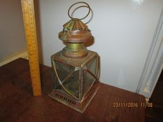 Antique / #vintage / retro brass #lantern - ships lamp / #hurricane lamp - candle,  View more on the LINK: http://www.zeppy.io/product/gb/2/122238961079/