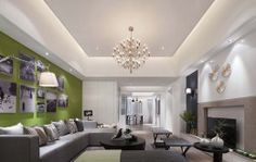 interior design of rectangular living room