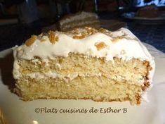 Gâteau suprême délice à l'érable de Esther b - Portions: 12 à 14 Ingrédients 2 tasses (280 gr) de farine tout-usage ¼ tasse (50 gr) de sucre 3 c. à thé (cc) de poudre à pâte (levure c...