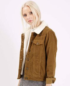 Levi's-style cord western jacket at Topshop