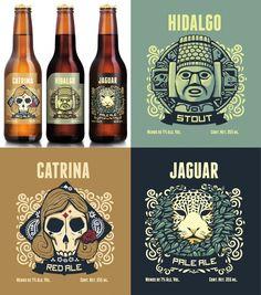 Com elementos da civilização Azteca o designer e ilustrador australiano Andrew Rose desenvolveu os rótulos das cervejas mexicanas Hacienda, sua proposta foi claramente enfatizar a origem do produto…