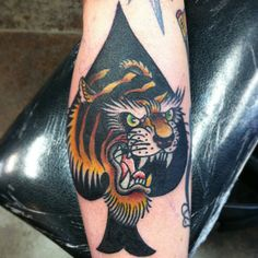 Classic Cool Tattoos By Paul Nycz Paul Design, Tiger Tattoo, Traditional Tattoo, Iowa, Cool Tattoos, Cool Stuff, Classic, Artist, Tattoo Traditional