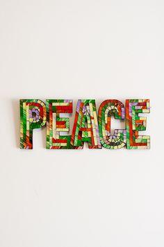 Mosaic Peace Wall Art in Multi