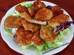 Panierowane boczniaki Meat, Chicken, Ethnic Recipes, Food, Beef, Meal, Essen, Hoods, Meals