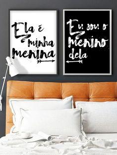 Quarto de casal, ideias criativas para decorar.