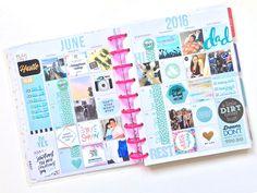 memory keeping 2016 // full June into July flip-through   Amanda Rose Zampelli