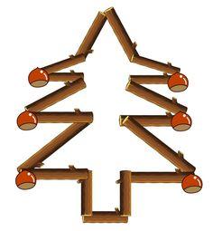 opdrachtkaart takken een kerstboom