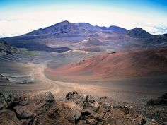 Haleakala Crater, Maui, HI.  It is beautiful and freezing cold up there when the sun comes up!!!