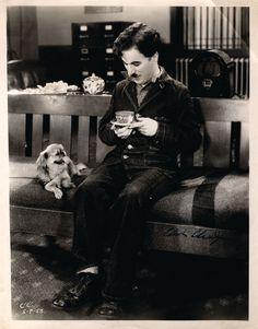 Charlie Chaplain drinking tea. #celebrities #tea