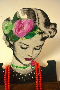 Fleurs#peinture#customisation#  By valoupette
