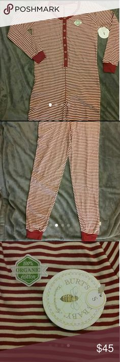 Burts Bees adult onesie pajamas Brand new Burts Bees adult Onesie Pajamas red and white striped 100% organic cotton Oprah Winfrey pick Super cute pjs for out with the girls, home alone or with your one and only Size small Burts Bees Intimates & Sleepwear Pajamas